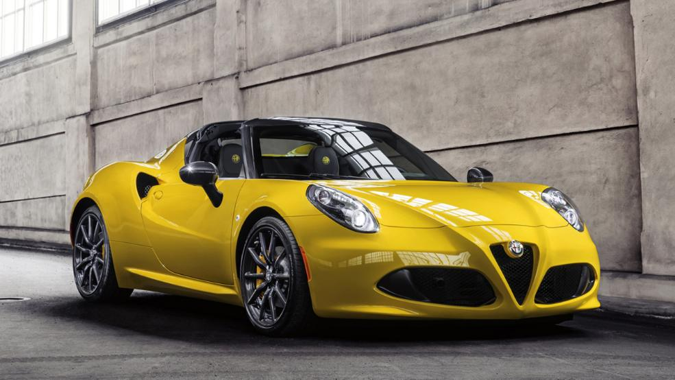 Alfa 4C Spider yellow gelb